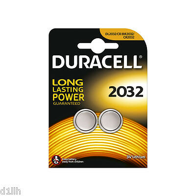 Duracell 2032 Lithium 3V Button Coin Battery - Pack of 2