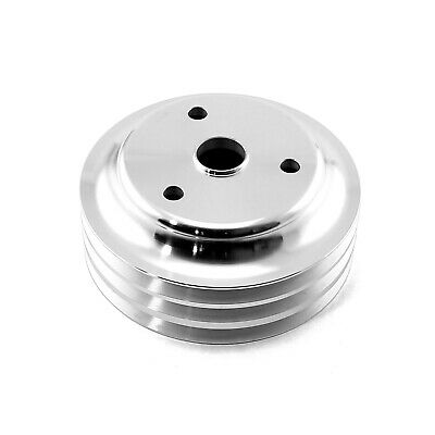 Chevy SBC 350 Billet Aluminum Long Water Pump Lwp 3 Groove Crank Pulley