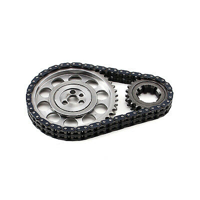 Chevy SBC 350 Late Double Roller 9 Keyway Billet Steel Timing Chain Kit(Brs/Brg)