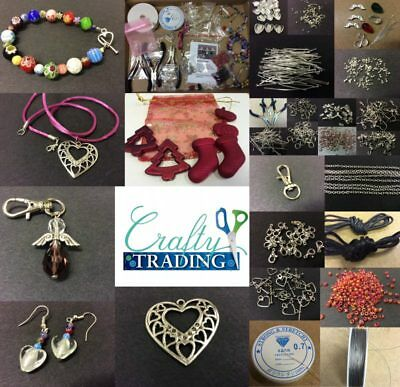 Jewellery Making Starter Kit, Findings, Beads, Tools, Instructions,Xmas Freebies