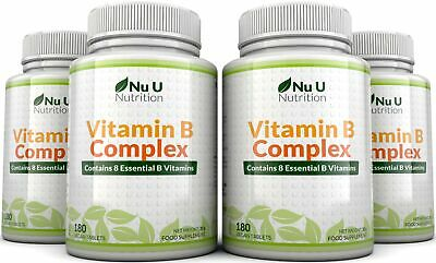 Vitamin B Complex 4 bottles 720 tablets Contains  Eight B Vitamins in one tablet