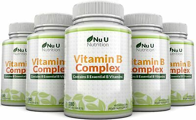 Vitamin B Complex 5 bottles 900 tablets Contains  Eight B Vitamins in one tablet