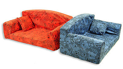 Designer Dog Tired Dog Bed / Pet Sofa 3 Sizes and 9 Colours Available