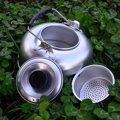 Outdoor Campfire 900mL Kettle / Teapot Hiking Camping Water Aluminum Coffee Pot