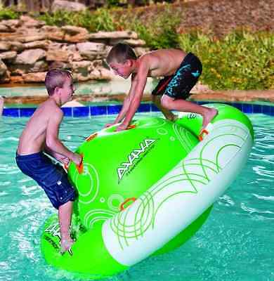 NEW Saturn Spin Rocker Ride-On Inflatable Pool Toy Swimming Water Float Kids Fun