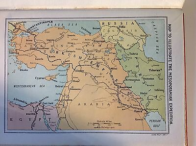 WW1 Map to Illustrate the Mesopotamian Expedition - Vintage Print 1918
