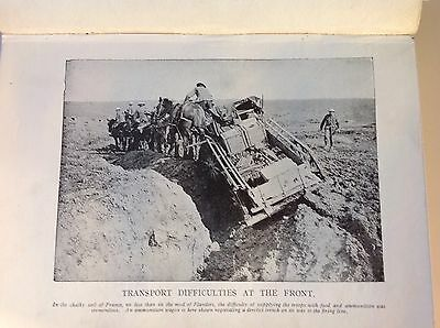 WW1 Transport Difficulties at the Front - Vintage Print 1918