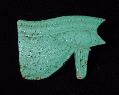 Zurqieh - Q3- Ancient Egyptian Large Faience Green Eye Of Horus. 600 B.c