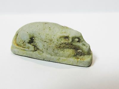 Zurqieh - Q10- Ancient Egypt. Nice Faience Ant Eater Amulet. 600 B.c