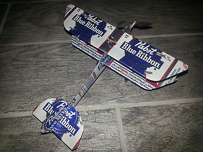 PABST BLUE RIBBON PBR Can Plane Airplane Made from REAL cans