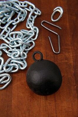 Antique Victorian Cast Iron Ball Gate Closure set gate weight AH04251607