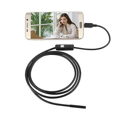 7mm Lens Waterproof 6 LED 720P Inspection Borescope Camera Android Endoscope 1m@