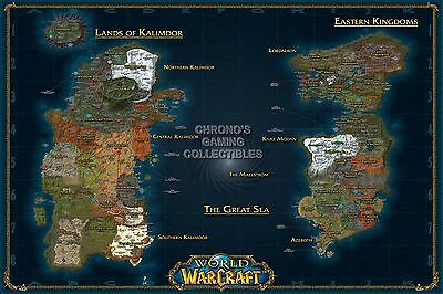 RGC Huge Poster - World of Warcraft World Map WOW PC - EXT184