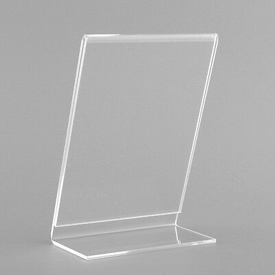 Acrylic Plastic Menu Perspex INFORMATION Leaflet Display Stands A6 OFFICE