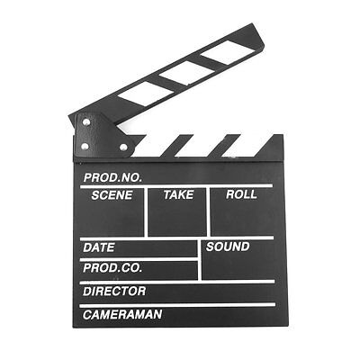 """Large 11"""" x 12"""" Film Clapperboard Clapper Board Hollywood Movie Stage Prop"""
