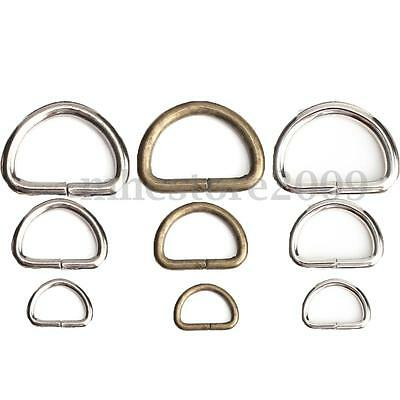 10Pcs 15/25/38mm D-Rings Buckles Clips Non Welded Sport Webbing Leather Craft HQ