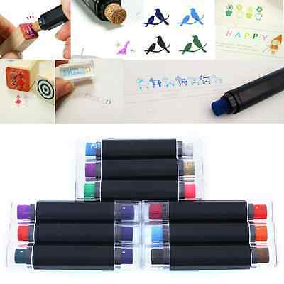 Craft DIY Cute Cartoon Plastic Double Color Ink Pad Inkpad For Paper Stamps
