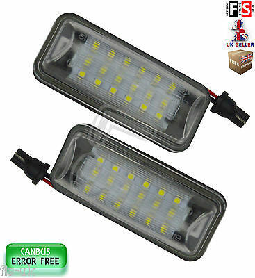 Subaru License Number Plate Lights Led White 18Smd Canbus Error Free Brz Legacy