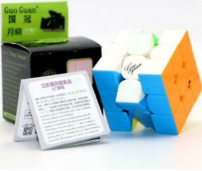 Newest MoYu Guoguan Yuexiao Black 3x3x3 magic cube Black speed puzzzle Toy gift