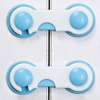 10pcs Durable Door Fridge Drawer Cabinet Safety Locks For Kids Children Baby