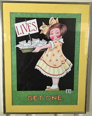 "Mary Engelbreit Large Art Print Matted Framed ""Lives Get One"""
