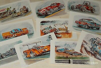 Lot Cartes Postales AUTOMOBILES par JP BOIVENT Collection Les brûleurs de gomme