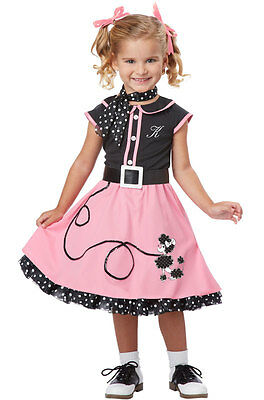 Brand New Grease 50's Poodle Skirt Dress Retro Cutie Toddler Costume