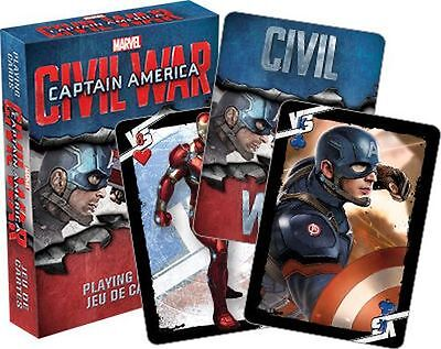 Captain America - Civil War - Playing Card Deck - 52 Cards New - Marvel 52351