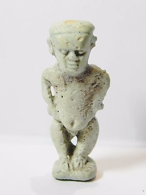 Zurqieh - Q23- Ancient Egypt. Nice Faience Amulet Of Pataikos. 600 B.c