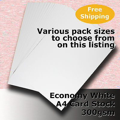 Economy Card Stock WHITE A4 Size 300gsm #H5508