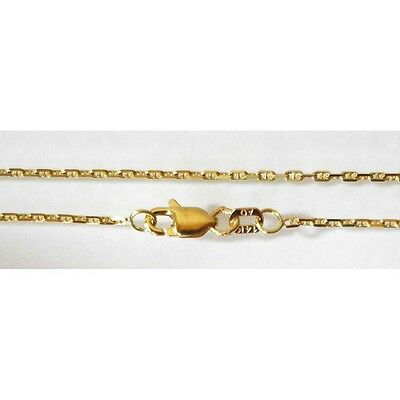 9b1a16b24 14k Solid Yellow Gold Gucci Chain Necklace 1 mm 16 inches (40 cm) 2.3
