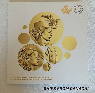 CANADA's 100th Anniversary Of Women's Right To Vote 1916-2016 Coin FOLDER Only