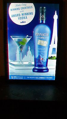 Pinnacle Vodka Lighted LED Sign, Framed, BNIB