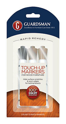NEW! GUARDSMAN Wood Furniture Touch-Up Kit 3-Pack! 465000