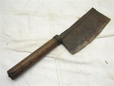 Antique Blacksmith Hand Forged Kitchen Cleaver Butcher Knife Meat Deli Iron Tool