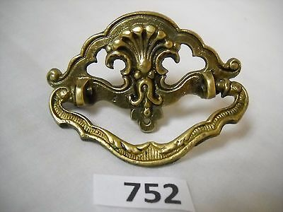 Antique Cast Brass Single Screw Drawer Pull
