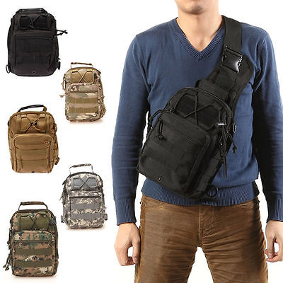 Outdoor Molle Sling Military Shoulder Tactical Backpack Camping Travel Bags