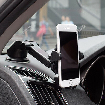 Universal Car 360° Windshield Mount Holder for Mobile Phone GPS iPhone Samsung
