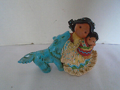 """1996 Enesco Friends of the Feather """"Little One To Lean One"""" Figurine"""