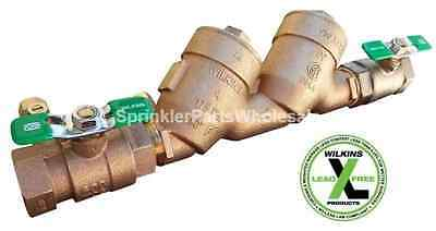 "Wilkins 1 1/2"" 950XLT2 Lead Free Double Check Backflow Preventor 112-950xlt2"