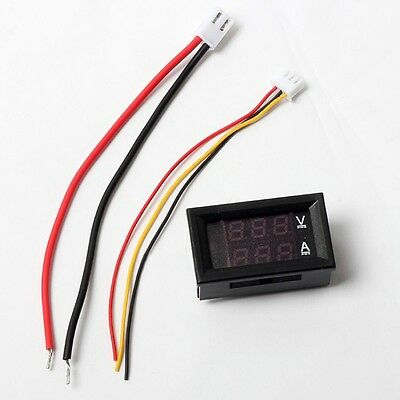 NEW DC 100V 10A Voltmeter Ammeter Dual Color Display LED Amp Volt Meter Gauge US