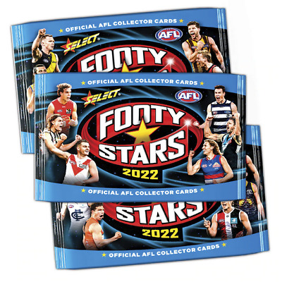 5 x 2019 AFL SELECT FOOTY STARS SEALED PACKS 50 TRADING CARDS RANDOM PICK
