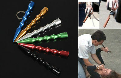 Aluminum Alloy Pen-shaped Kubaton Stick Keyring Self-defense Supplies