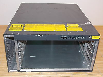 Cisco Catalyst WS-C6504-E 6504-E Enhanced 4-slots Chassis 5RU with signs of use