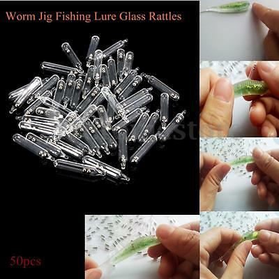50 Pcs Worm Jig Fishing Lure Baits Glass Rattles Insert Tube Rattles Attract Fly