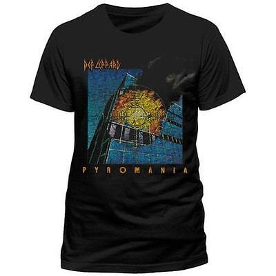 Def Leppard - Pyromania Mens Short Sleeve Cotton T-Shirt - New & Official