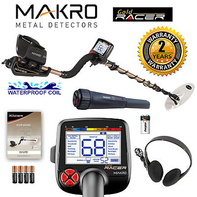 Makro Gold Racer Metal Detector Standard Package with Makro Pointer Pinpointer
