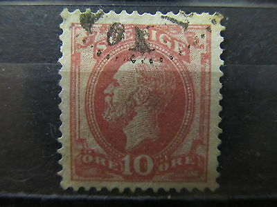 A2P6 SWEDEN 1886-91 10o USED