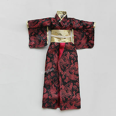 1/6 Scale Japanese Costume Kimono Model For Dolls Figures Traditional Clothing