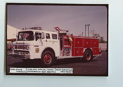 1980 Ford Emergency One Fire Truck Original Small Photo Glenville NY ft0574